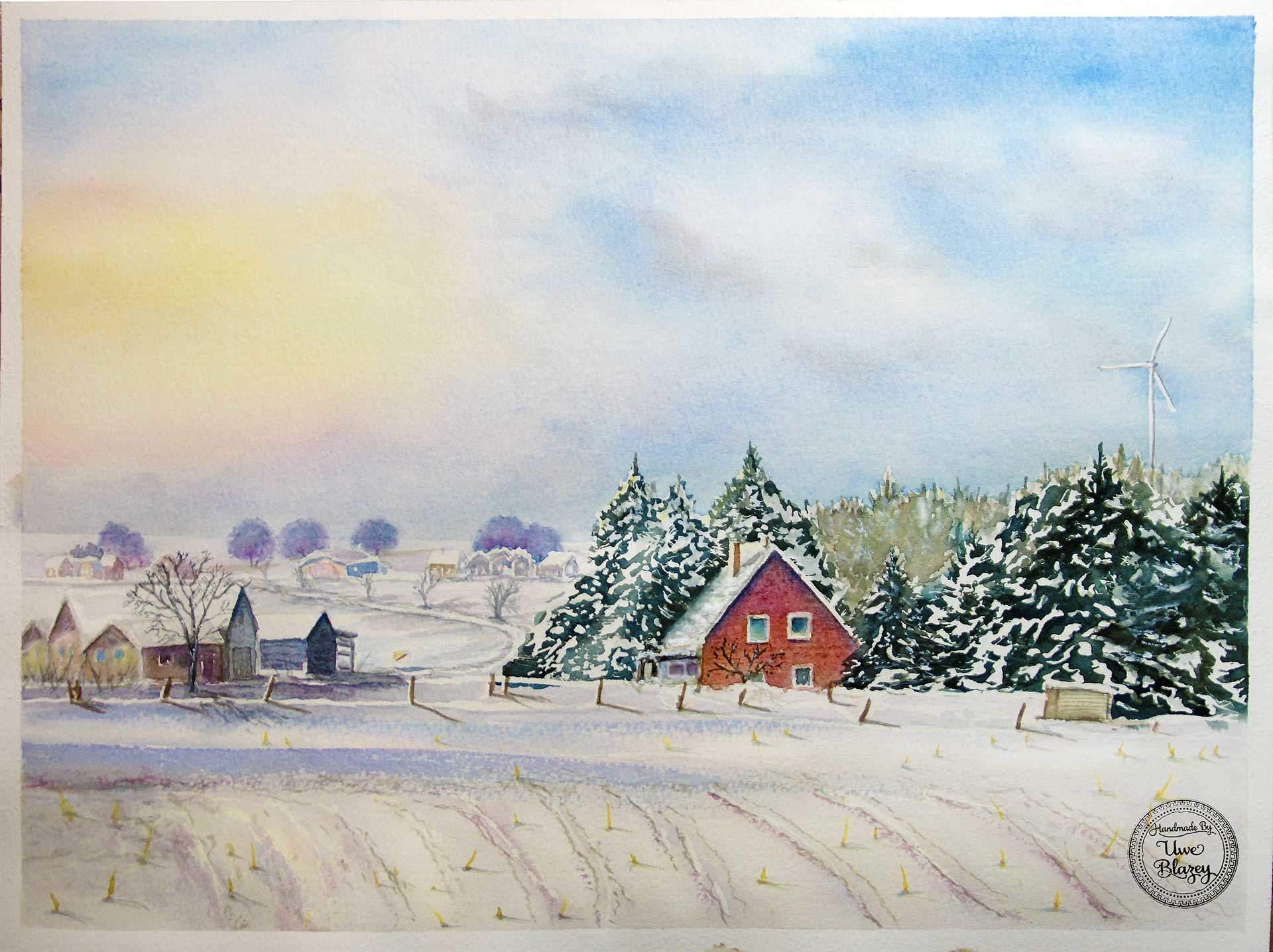 Wierstorf im Winter