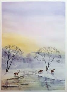 Winterwonderland and deers