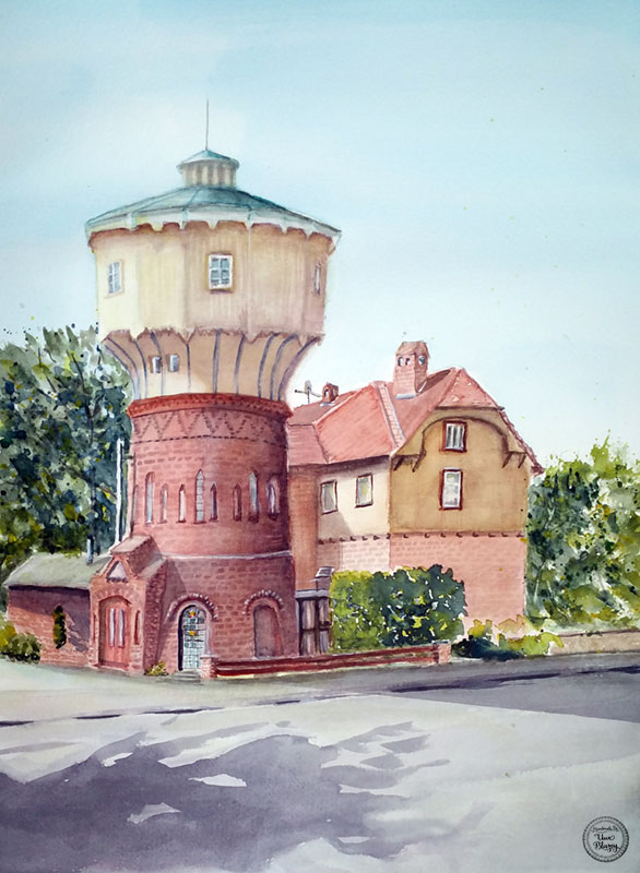 The old water tower of Wittingen